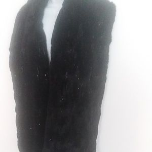 Womens black sequined shawl/Wrap